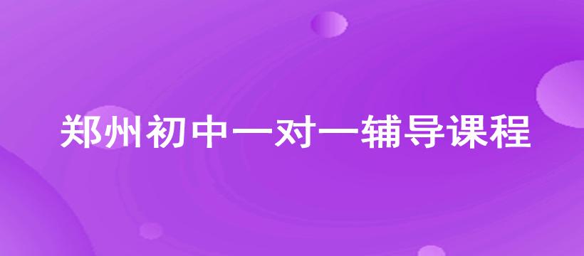 郑州初中一对一辅导课程