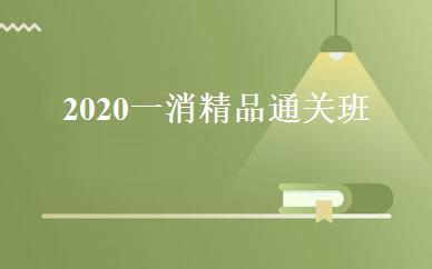 2020一消精品通关班