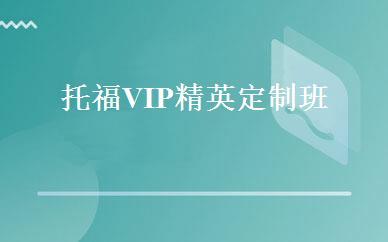 托福VIP精英定制班