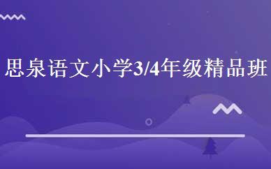 思泉语文小学3/4年级精品班