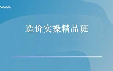 上海建筑工程哪家好,多少钱_造价实操精品班 _上海新科教育