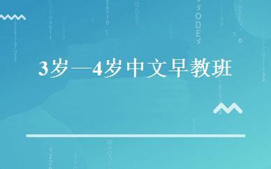 3岁—4岁中文早教班