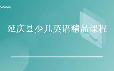 延庆县少儿英语精品课程