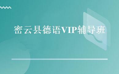 密云县德语VIP辅导班