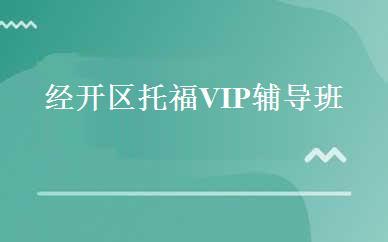经开区托福VIP辅导班