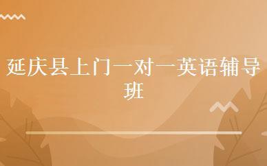 延庆县上门一对一英语辅导班