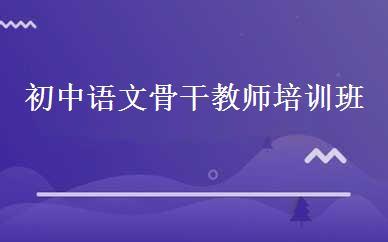 初中语文骨干教师培训班