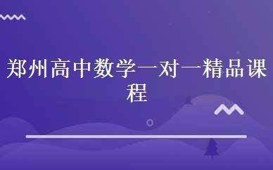 郑州高中数学一对一精品课程