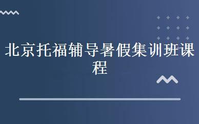 北京海淀区比较好托福辅导暑假集训班课程有哪些
