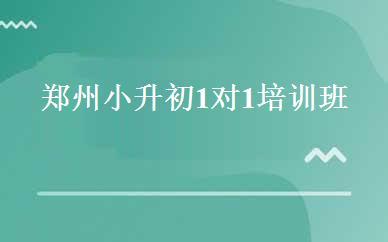 郑州小升初1对1培训班