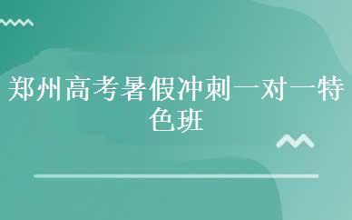 郑州高考暑假冲刺一对一特色班